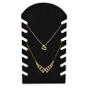 J Exhib. 7 collares flocado negro 7 1/2 x 14 pulg.